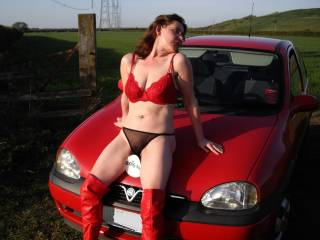Mmmmmm... very sexy, love to come across you while out n about. Would have to stop and wank off in front of you...  love your cfm boots  :) x