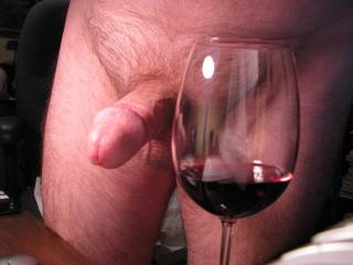 I'd love to d-r-i-n-k the wine and taste that cock....while I was sucking it...then I'll be able to d-r-i-n-k your cocks wine.  MILF K