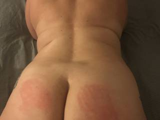 The start of a spanking and a fucking for trouble.   She was a bad girl so at a party she got spanked.