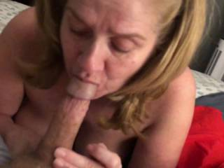 I love her sucking cock she's a great cock sucking woman