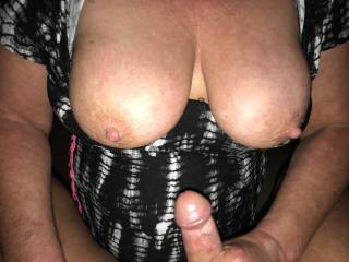 wife stroking