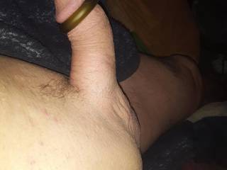 Just shaved and put on cock ring!! How does it look?
