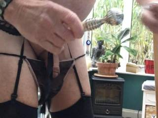 Ready to insert 7 inch butt plug in my arsehole
