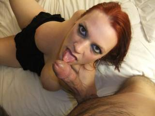 M licking L\'s hard cock.