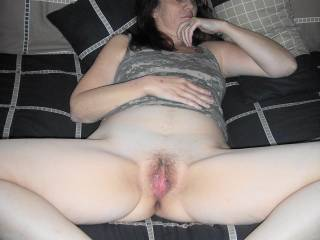 Damn, you are a sexy woman and am more than happy to be your black slave. I can see I am stretching and deep in that white sweet tight pussy. Lance