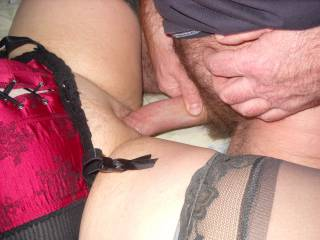 Love to feel the head of my cock pushing it's way into your lovely pussy.