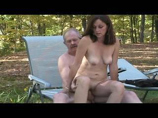 the fucking conclusion.....Candi Annie is doing a little outdoor nude photo shoot with AL but it turns into some real fall fun ...... fucking, sucking and licking for all to see - of course Al unloads all over Candi\'s beautiful mouth, lips etc.... right o