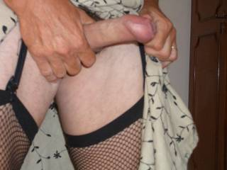 favourite dress and fishnets