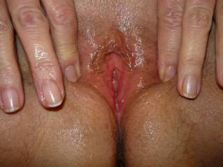 My pussy spread wide open and ready for action