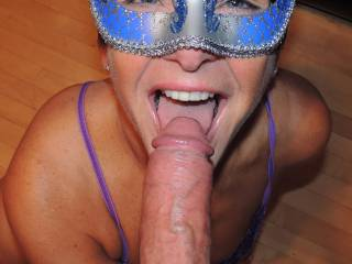 Teasing hubby with my tongue