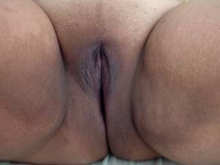 Getting ready for some dick. Fat pussy!!