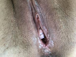 look at my creamy pussy....want lick it?