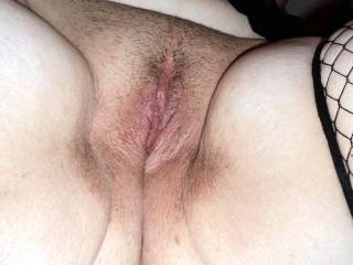 That was built for comfort.  Nice pussy  love those thick thighs .. padded for heavy hitters.. I'm guessing a BBC  if I was your oldman you would