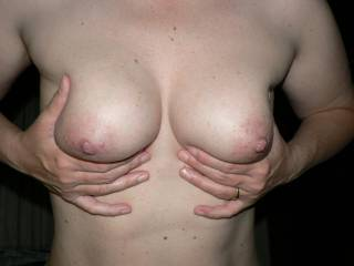 I think they are perfect too... so shapely, good for titty fucking and nice suckable nipples... I would love to have you for the night!