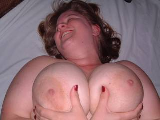 Those tits are just begging to be sucked. ;-)  Sharing Couple Wife