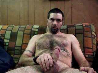 Man you have it all with a handsome face hot body, furry chest and belly and a nice cock. Very sexy looking man!