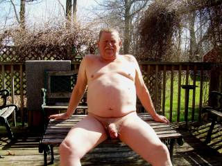 Enjoy sunny day my friend, I love to see your big fat hairy cock this way !