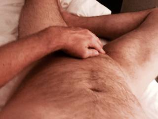 What a sexy body... nice hairy chest and belly, furry legs and sexy feet... too bad you are alone in that hotel room