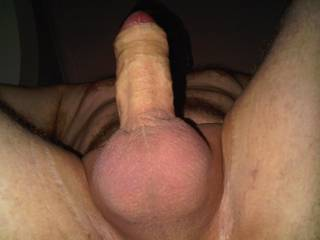Nice view. Lickable and suckable balls, suckable uncut cock