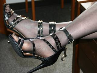 Adorned with cuffs...soon to be used.