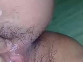 Wife Playing With Wet Hairy Pussy
