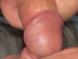 Sucking it like a good girl to get a load all over her face