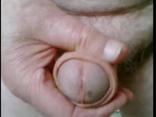 Closeup stroking my uncut dick