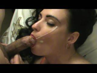 What a hot sexy woman...she looks sooooooo good sucking cock. Wow she sounds and laughs just like a former girlfriend of mine.  She would laugh like that after sucking my cock.  Damn that sounds so good to hear again especially right after a hot blowjob like that.  G
