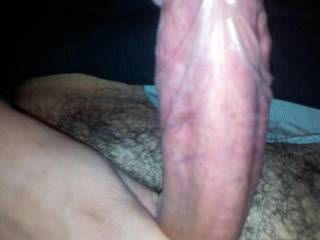 Thick cock about to explode and shoot a huge load for the ladies. ;)