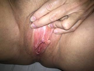 Yes please, I would love  that pinky almond sticking at the top and grip it with my lips and suck it real good