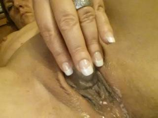 Damn I would love to shove my throbbing cock balls deep in that juicy pussy