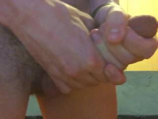 nice big cock love that 4 skin and two handed jerking