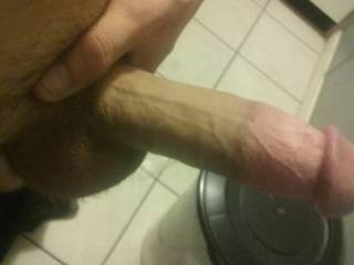 I been stroking this big cock for about 30 minutes im rock hard right now and really need a tight little pussy to stretch open or a tight little ass hole if anyone thinks they can handle me balls deep inside them ;) hmu