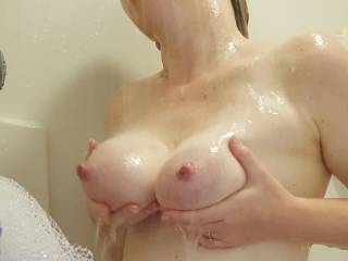 I love to squeeze my big milk filled tits together for you... would you like to play?