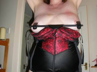 Not a slut but would like 2 b her slave. Would like 2 try those nipple clamps, new 2 me and anything else.  Need 2 experience new things long out of the seen