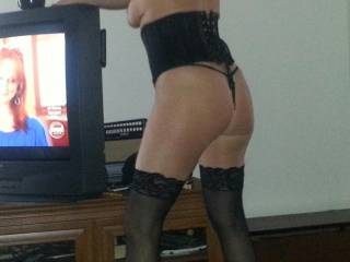 Wife posing in lingerie