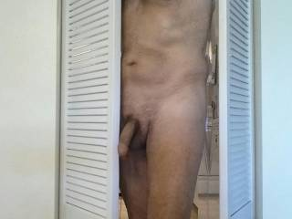 Cumming out of the kitchen. It\'s nice to have doors that swing both ways. I certainly like it both ways. How about you?