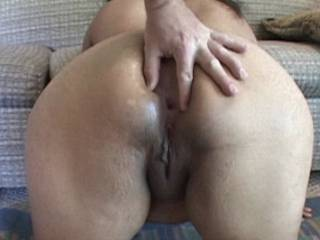 Wife shows used pussy to husband