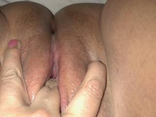 Love sliding a finger in my tight wet pussy