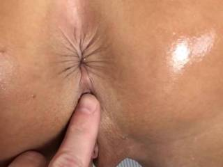 Exploring her pussy