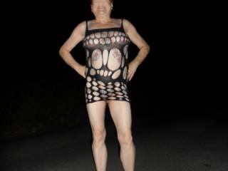 Hi all it is fun walking in the cool night air, dirty comments welcome mature couple