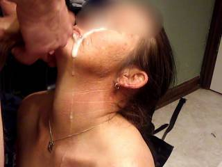Shooting a load on my wife's face
