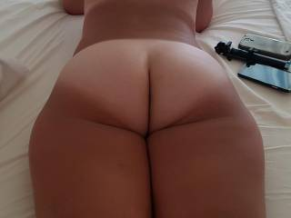 Spread me, smell me, kiss me, eat me, push your cock deep into my plump ass. Would you?