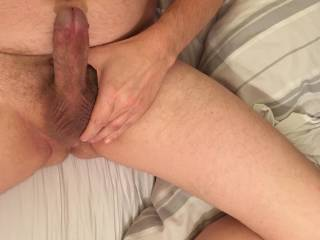 My hubby nude erect and ready for action! What do you think of his cock? I love it so much!