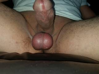 Super horny and wet.  Balls tied.