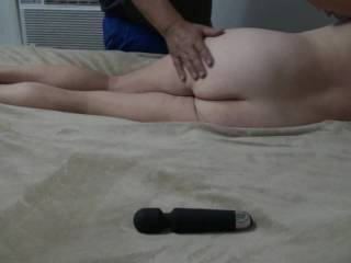 Enjoyed smacking girlfriend\'s ass, pussy, and tits with my hand and one of our new favorite toys a riding crop. And later she used it on me. Do you want to spank that little ass?