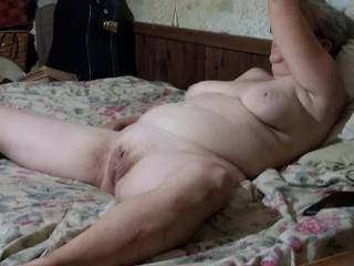 wife on the bed and ready