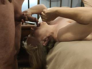Mmm... About to get some delicious cock! Shouldn\'t every woman have a good face fuck? I have a video that shows how much I love cock.
