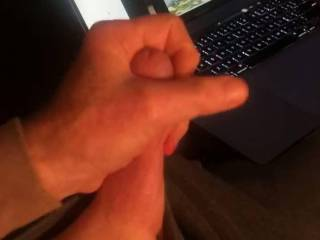 I got turned on watching Rehnsy masturbating and needed to stroke my cock.