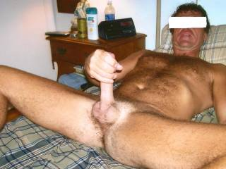 Nice, bet that hot hard cock.  I love watching a man touch and play with his cock.  K